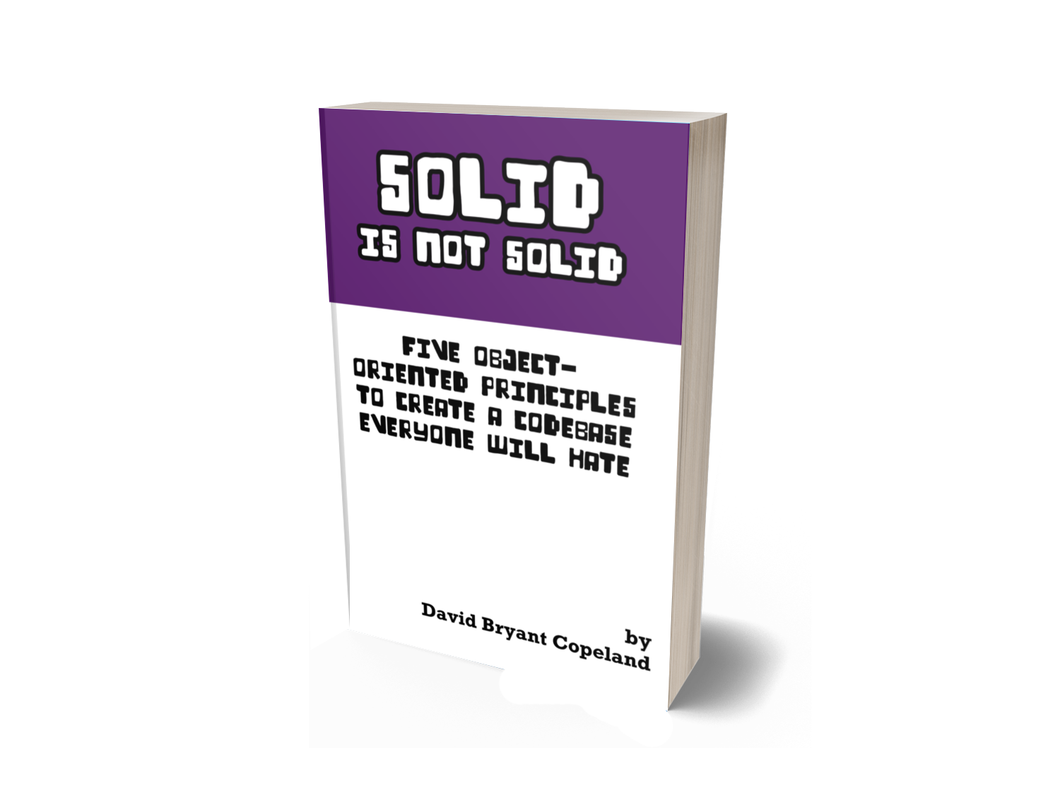 Rendering of the book 'SOLID is not Solid'